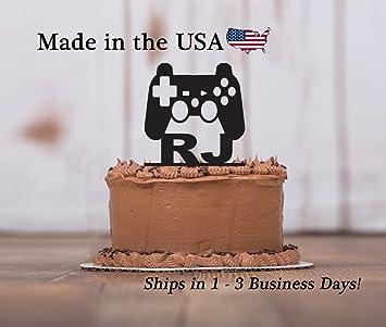 Gamer Cake Topper With FREE Keepsake Base Game Controller Boys Birthday Party