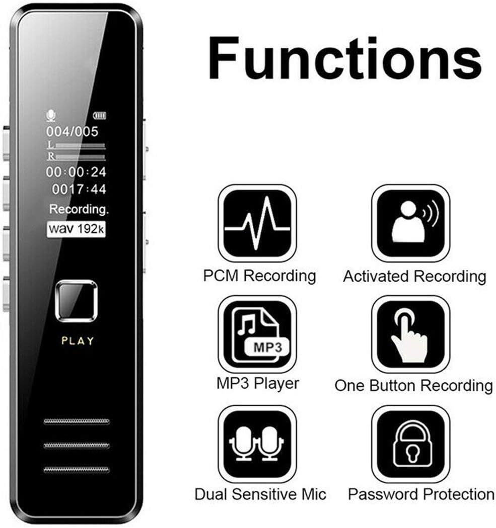 Sprachaktivierung Mini-Digital-Sound-Audio-Recorder Diktiergert ...