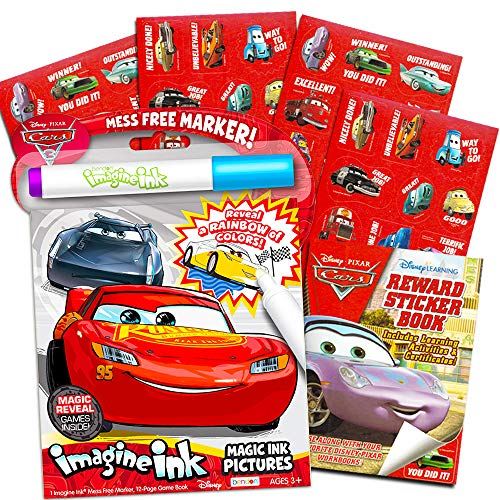Disney Cars Imagine Ink Coloring Book Set for Toddlers Kids -- - Import It  All
