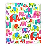 Society6 Colorful India Elephant Kids Illustration Pattern 51'' x 60'' Blanket