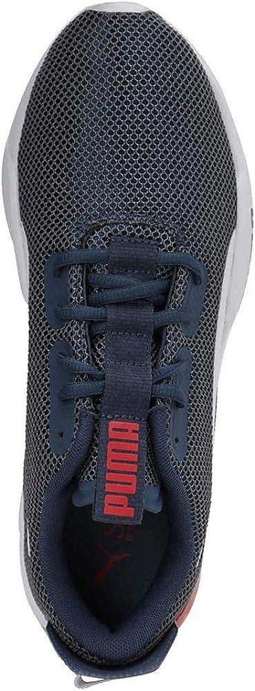 PUMA Cell Phase, Chaussure de Piste d'athlétisme Homme Denim Foncé Rouge À Haut Risque