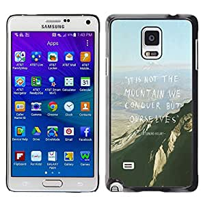 Paccase / SLIM PC / Aliminium Casa Carcasa Funda Case Cover para - Mountain Conquer High Inspiring Motivational - Samsung Galaxy Note 4 SM-N910F SM-N910K SM-N910C SM-N910W8 SM-N910U SM-N910