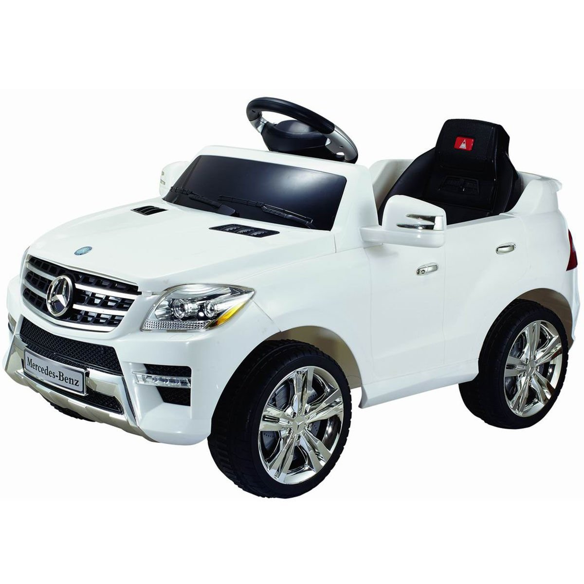 amazoncom costzon white mercedes benz ml350 6v electric kids ride on car licensed mp3 rc remote control toys games