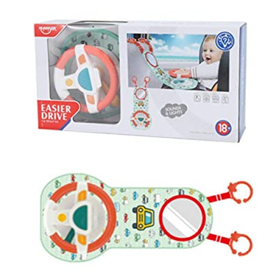 Baby Car Wheel Toy, Car Back Seat Steering Wheel Infant Driving Wheel Simulation Toy with Light Sound, Toddler Toy: Home & Kitchen