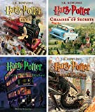 Harry Potter Illustrated Books 1-4