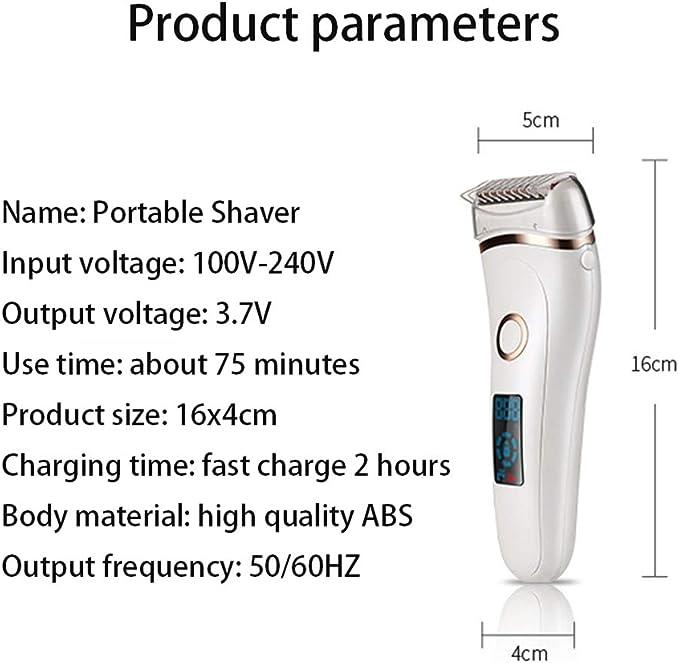 MENGYA Afeitadora Femenina, Afeitadora Eléctrica Mujer Impermeable ...