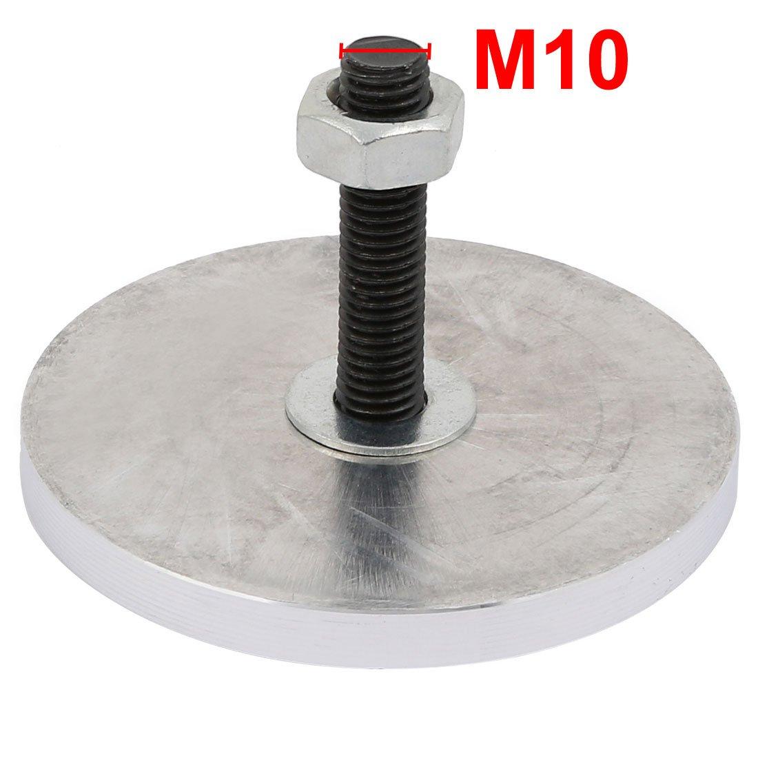 sourcingmap M10x50mm Thread 80mmx8mm Tea Table Glass Top Circle Aluminum Disc Adapter 4pcs