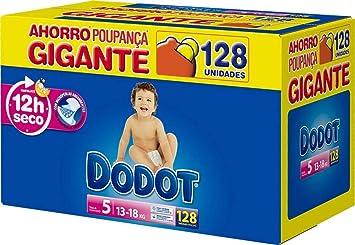 Caja de pañales talla 5, para niños de 11 a 16 kilogramos DODOT bebe-seco 128 uds ECOSEGURA.: Amazon.es: Bebé