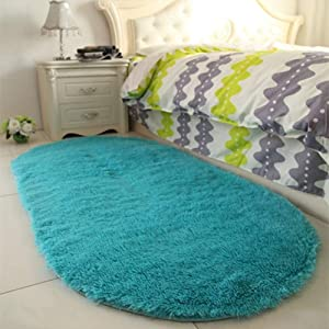 YOH Super Soft Area Rugs Silky Smooth Bedroom Mats for Living Room Kids Room Blue for Boys Girls Room Home Decor Carpet 2.6'x5.3'(Blue)