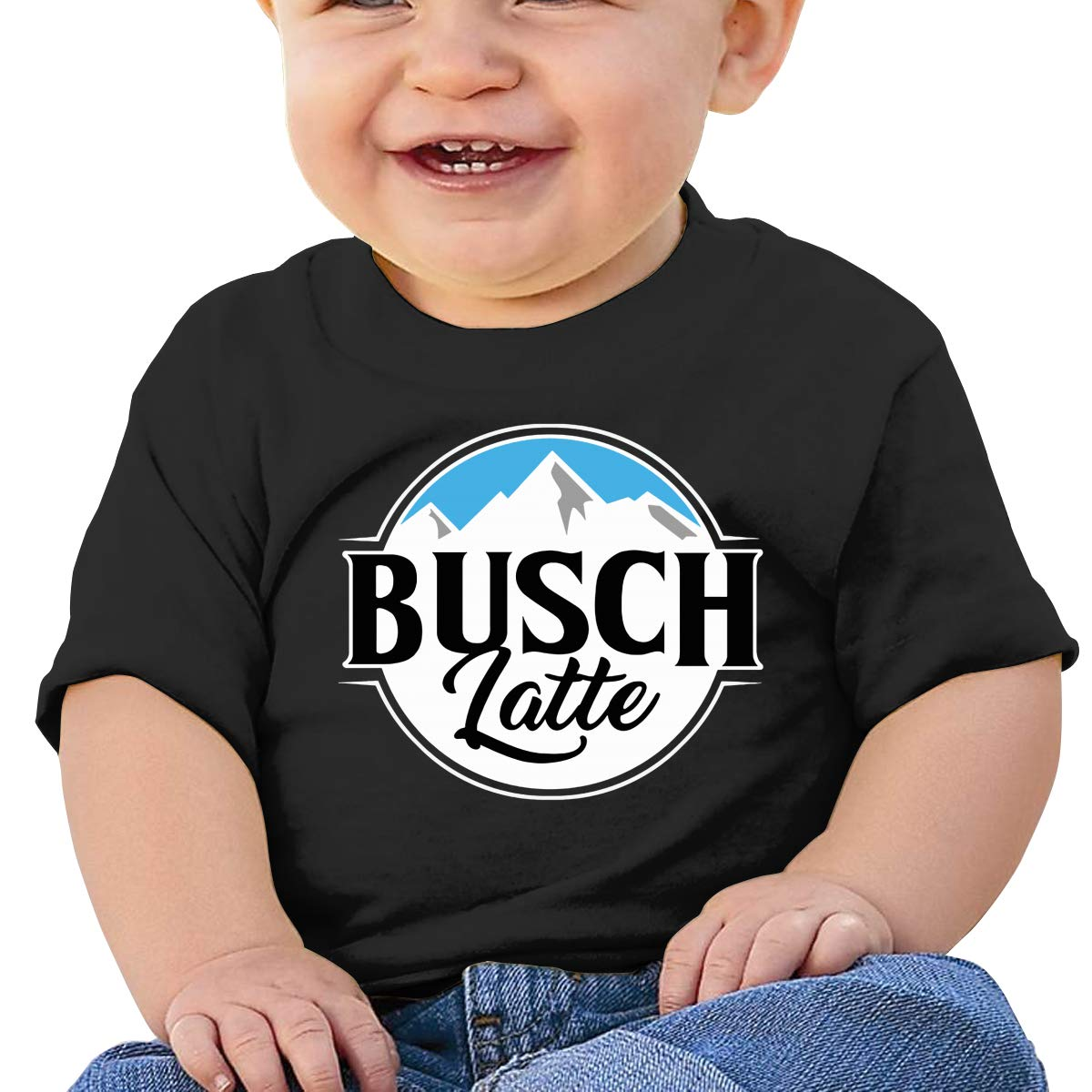 BestBestStore Baby Shirts Busch Latte Light Tees Durable Black Tank Top for Boy