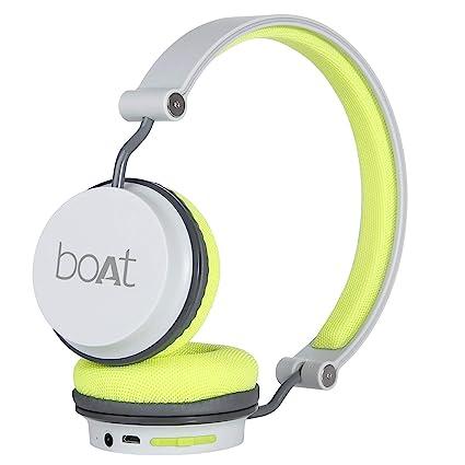 2b63a79553b boAt Super Bass Rockerz 400 Bluetooth On-Ear Headphones with Mic  (Grey/Green): Amazon.in: Electronics
