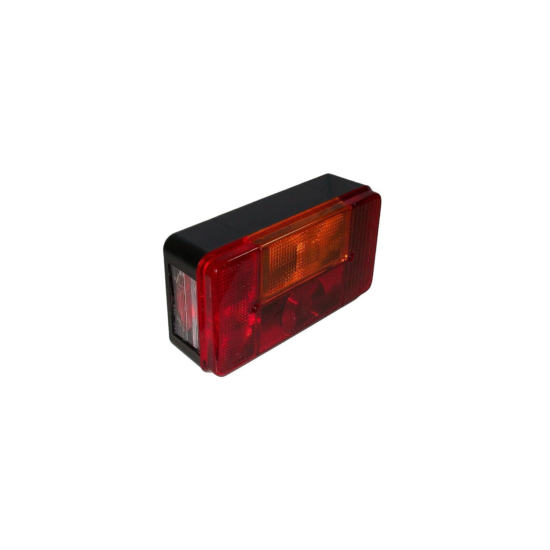 ORANGE MARINE Feu arrière Droite Universel - 4 Ampoules 200x110x60 mm Orangemarine