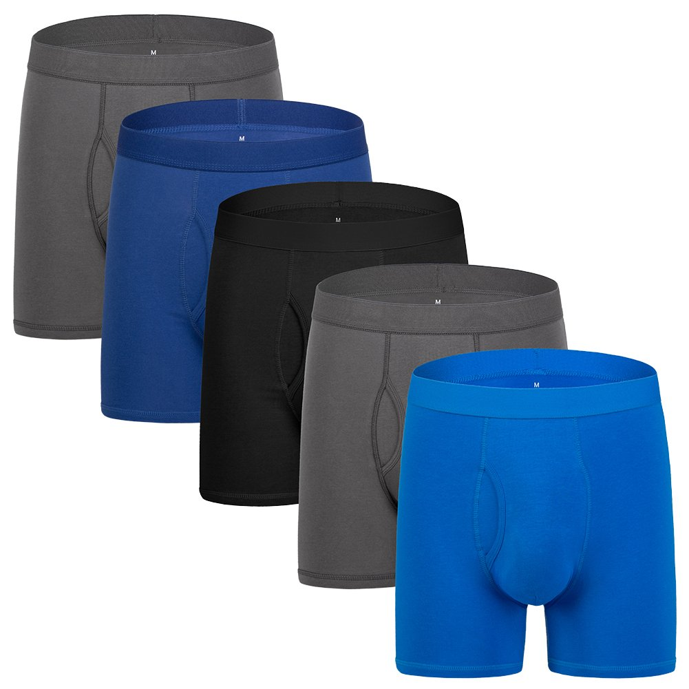ドリームキャッチャーメンズ下着ボクサーブリーフパックの長い脚5メンズコットンボクサーブリーフOpen Fly S / M / L / XL / XXL B0791ZCTWK X-Large|5-pack Black/Dark Gray/Blue/Roral Blue 5pack Black/Dark Gray/Blue/Roral Blue XLarge