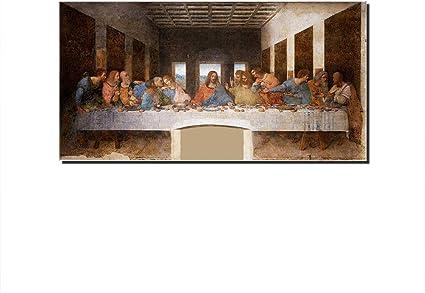 Five Seller Quadro Dipinti Famosi L Ultima Cena Di Leonardo Da Vinci Riproduzioni Artistiche Su Tela Stampate Su Tela Per Decorazioni Domestiche 30 X 60 Cm Amazon It Casa E Cucina