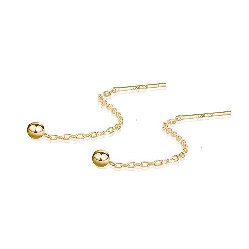 07d6b079de0d5 S.Leaf Gold Earrings for Women Threader Earrings Sterling Silver Chain  Tassel Earrings