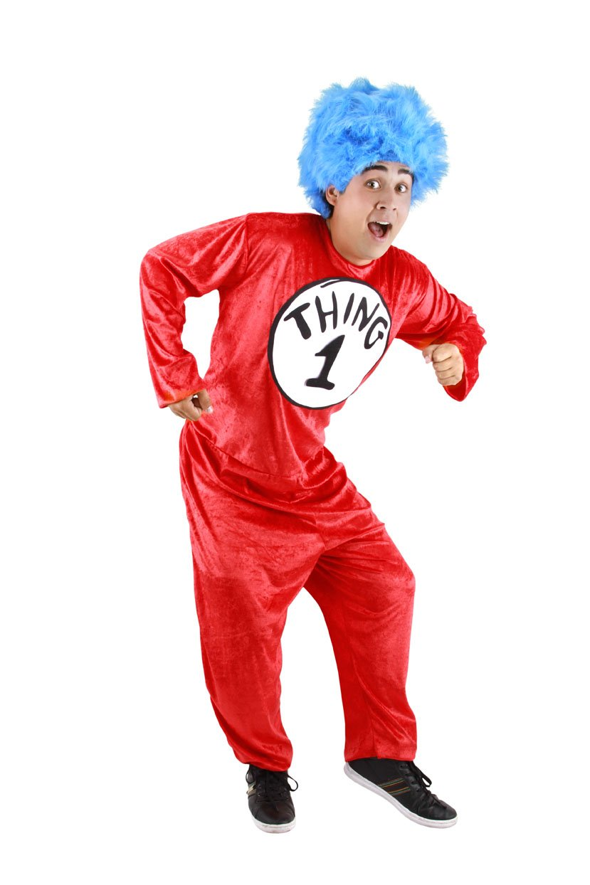 elope Dr. Seuss Thing 1 and Thing 2 Adult Costume (L/XL) by