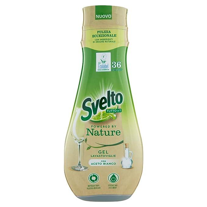 Svelto - Gel para lavavajillas Ecolabel con vinagre, 216 lavados ...
