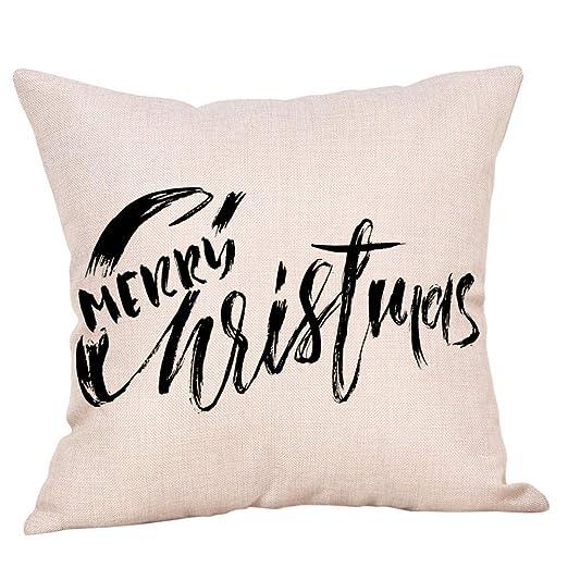 Gsgdae - Funda de cojín con diseño navideño y Texto Merry ...