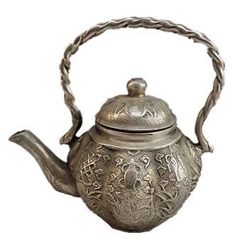 Tetera de cobre artesanía Bronce galvanoplastia níquel casa de antigüedades creatividad decoración clásico Ocho Inmortales tesoro