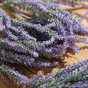 Luyue Artificial Lavender Flowers Bouquet Fake Lavender Plant Bundle Wedding Home Decor Garden Patio Decoration 2