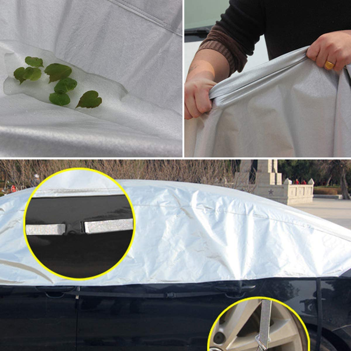 Rehomy Protezione dai Raggi UV Telo Protettivo per Auto Antipolvere Universale per met/à Auto