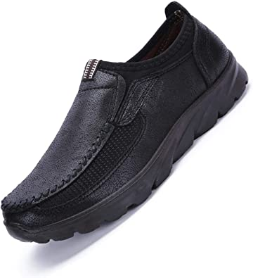 Qiucdzi Mens Loafers Casual Leather