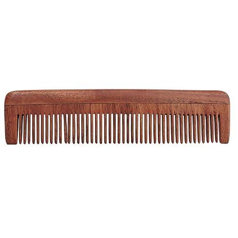 Pure Neem madera, dientes de peine para cabello fino | peine de dientes de neem
