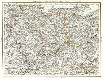 Amazon.com: USA MID WEST: Illinois, Indiana, Ohio, Kentucky ... on map of north east illinois, map of east st. louis illinois, map of fox river grove illinois, map missouri illinois, map of oglesby illinois, detailed road map of illinois, map of chicagoland illinois, map of bloomington illinois, map of marion illinois, map of north central illinois, map of michigan and illinois, map of crawford county illinois, map of angola illinois, map of ohio river illinois, map of northwestern illinois, map of auburn illinois, map of east central illinois, detailed map northern illinois, map of golconda illinois, map kentucky illinois,