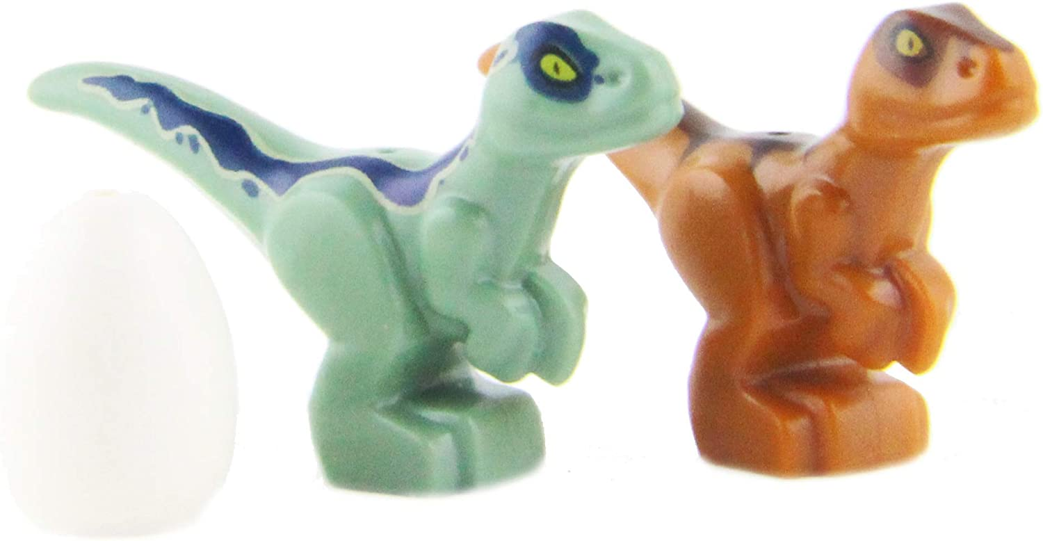 New for 2018 LEGO Jurassic World Baby Dinosaurs Green /& Brown with Egg Very Small