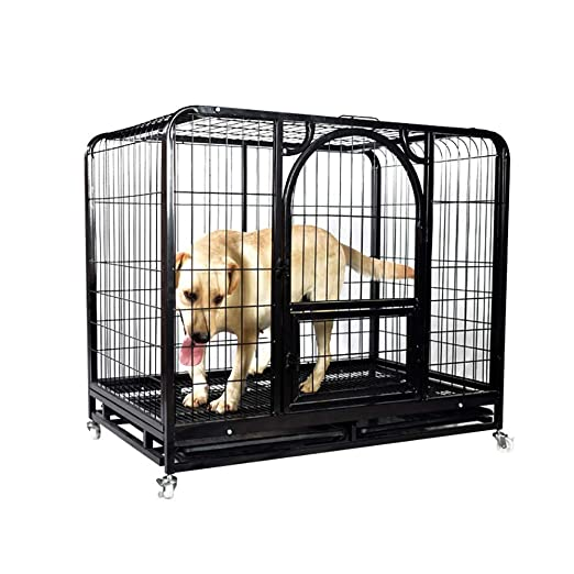 QNMM Perro Cuadrado Grande para Mascotas Jaula para Perros Cerca ...