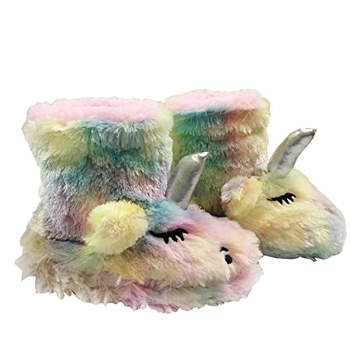 432428d8b941 Kids Unicorn Slippers Gifts Girls House Slippers Winter Fur Costume Booties