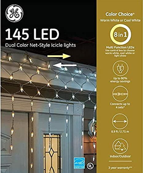 GE Energy Smart 100-Count Blue Mini LED Plug-In Christmas Icicle Lights