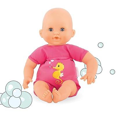 """Corolle - Mon Premier Poupon Bebe Bath Plouf Fuschia - 12"""" Baby Doll: Toys & Games"""