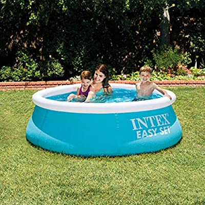 Tidyard Piscina Desmontable Metal Frame Redondo Easy Set 183x51 cm ...