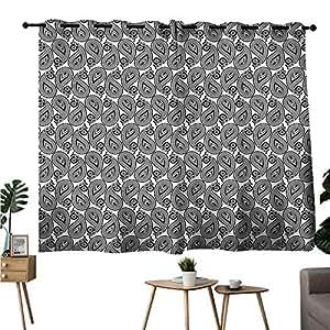 Amazon Com Diycon Fresh Curtains Paisley Monochrome