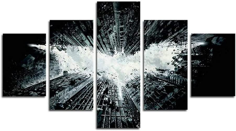 Orsit Prints 5 Pieces Batman Canvas Painting Living Room Home Decoration Canvas Art Wall Poster (No Frame) 50inch x30 inch…
