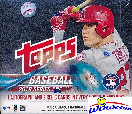 Jumbo Box - 2018 Topps Series 1 MLB Baseball ENORMOUS Factory Sealed HOBBY HTA JUMBO Box with 500 Cards & THREE(3) AUTOGRAPH or RELIC Cards! Absolutely Loaded with ROOKIES, AWESOME INSERTS & PARALLELS! ON FIRE!