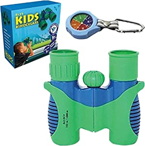 Binoculars For Kids - High Resolution For Backyard Fun, Hunting, Birdwatching, Outdoor Play, Learning Games, Spy And Camping Gear, Boys And Girls Gift, Outside Explorer Kit For Boys, Nature Toy & Fun