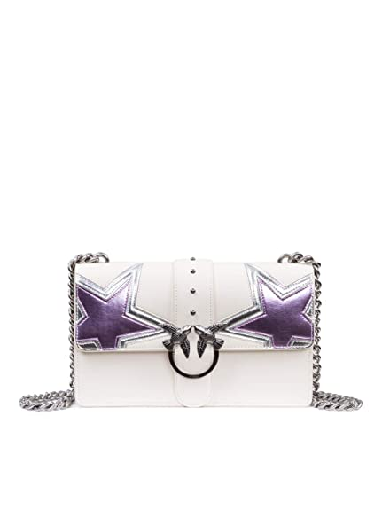 8a4cb0c84a8b7 Pinko Love Stars crossbody calf leither white  Amazon.co.uk  Shoes ...