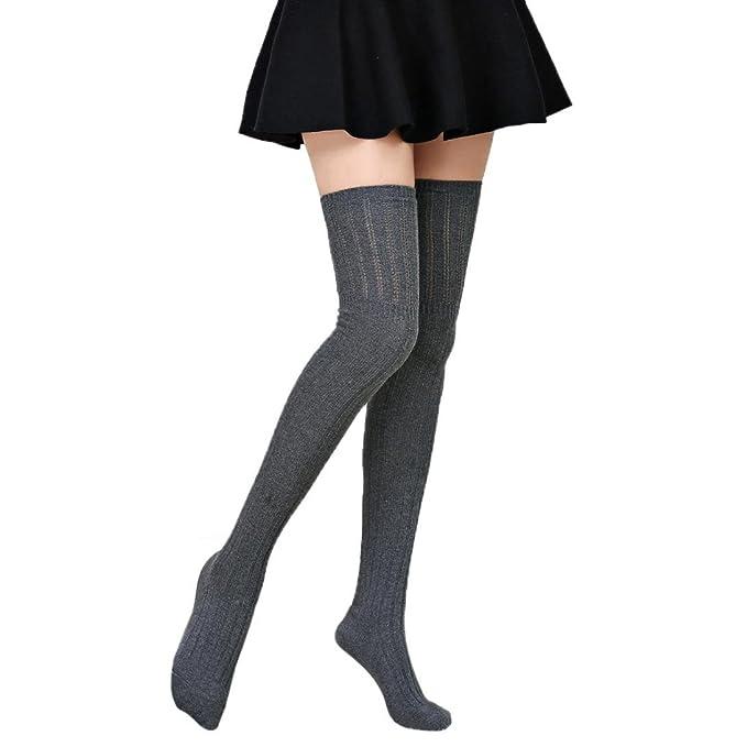 Damen Winter Halterlose Strümpfe Transer® Wärmer Häkeln Sock Knie ...