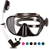 WSTOO 2020 Newest Dry Snorkel Set,Anti Fog Snorkel Mask,180 Degree Panoramic View Scuba Diving Mask,Snorkeling Gear