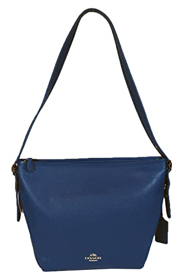 e56f740b7697 Coach 35775 Dufflette Shoulder Bagin Polished Pebble Leather Denim Blue   Handbags  Amazon.com
