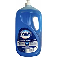 Dawn Lavatrastes Lavavajillas Antibacterial Power, Liquido, Blue Scent, 3X Grease Cleaning Power, 2.6 L.