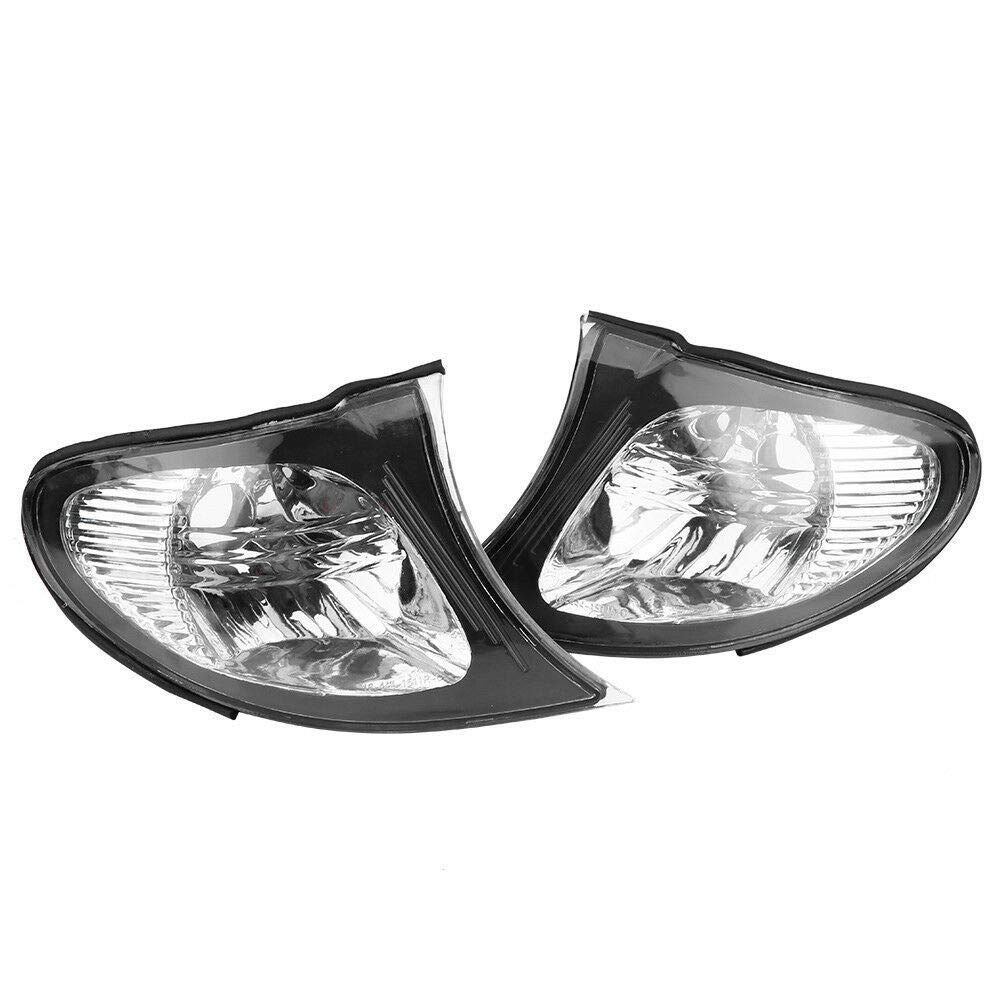 Clear Corner Signal Light,1 Pair Turn Signal Corner Light Lamp Lens Replacement For BMW E46 3-Series 4DR 2002-0005Sedan Clear Corner Parking Marker Light Lens