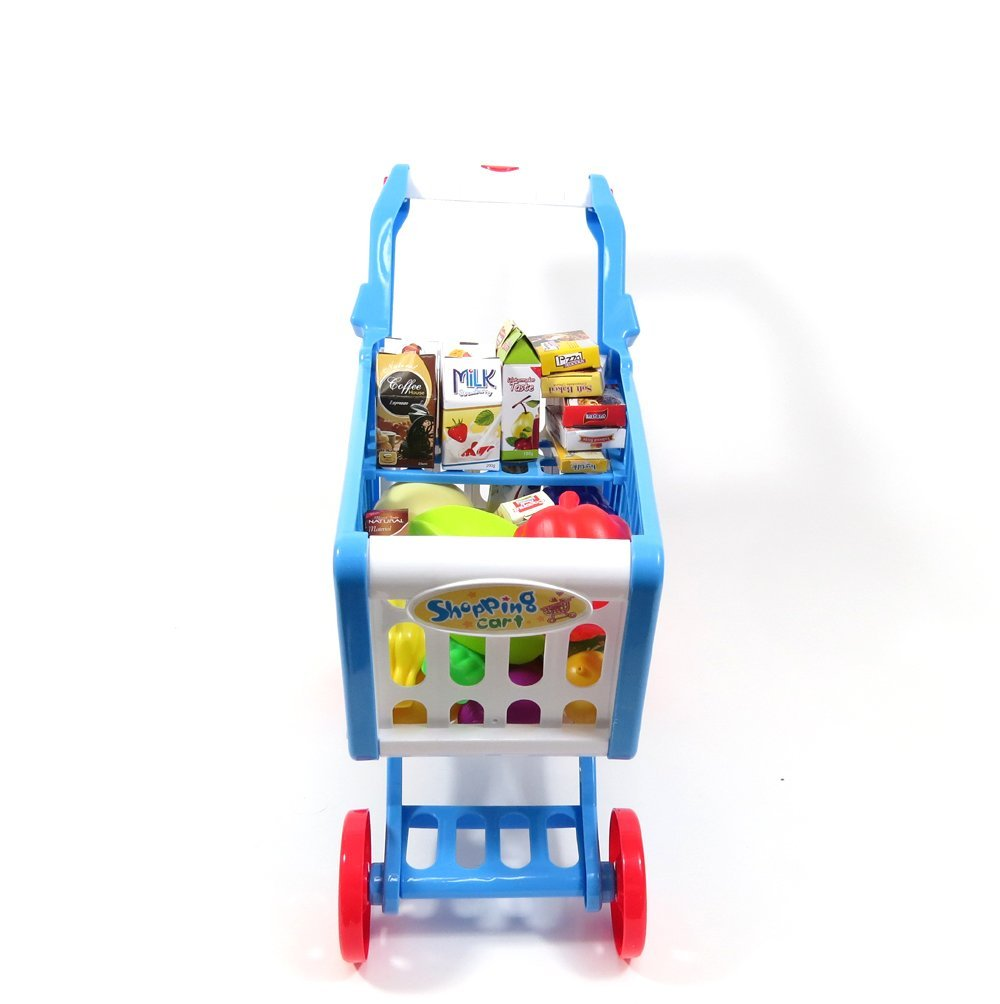AMPERSAND SHOPS Musical Toy Shopping Cart with Goodies (Blue) by AMPERSAND SHOPS (Image #6)