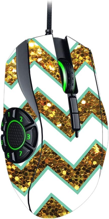 Remove and Unique Vinyl Decal wrap Cover Glitzy Chevron Easy to Apply Made in The USA Protective Durable and Change Styles MightySkins Skin Compatible with Razer Naga Hex V2 Gaming Mouse