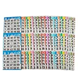 American Games Bingo Paper Game Cards – 3 Card – 20 Bingo Sheets – 50 Books – 20 Colors, Made in USA