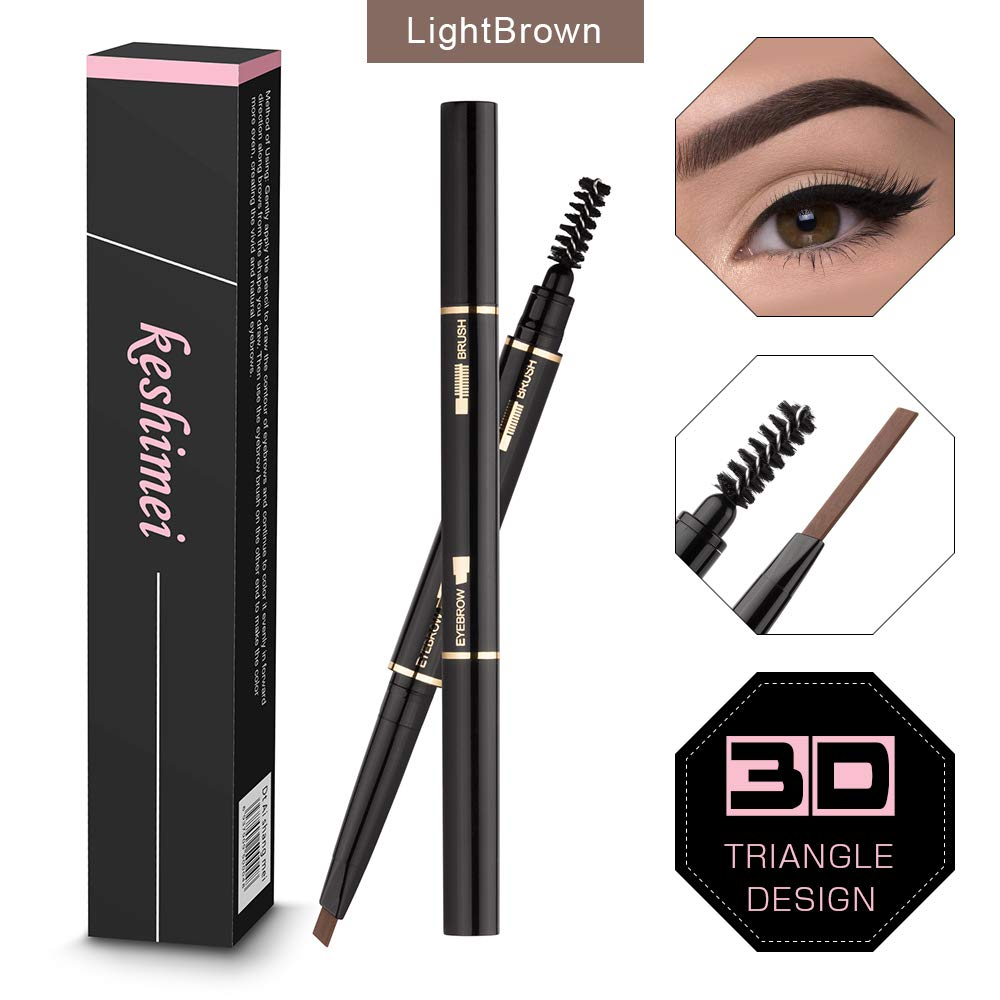 Amazon.com : Eyebrow Pencil 2 Packs, Waterproof Smudge-proof Brow Pencil with Brow Brush, Automatic Eye Brow Makeup by SEILANC, Dark Brown : Beauty
