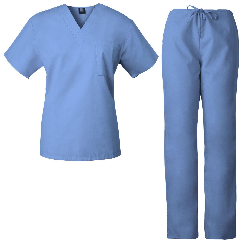1dc7c452898 Amazon.com: Medgear Mens Scrub Set Top and Pants Unisex Nurse Uniforms  7863: Clothing