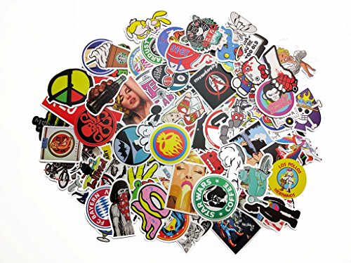 100 pcs Sticker Pack Picavinci Design Hippies Graffiti Vinyl Decal for car helmet wall luggage bumper snowboard hoverboards phone laptop motorcycle bike bottles Decal BOMB C